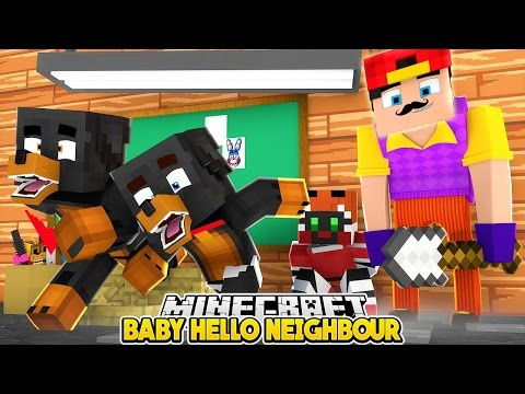 Minecraft Baby Hello Neighbor - LITTLE ROPO IS THE HELLO NEIGHBOUR F.N.A.F. - Little Club Baby Max