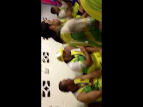 Cook Islands Post Game Celebrations.