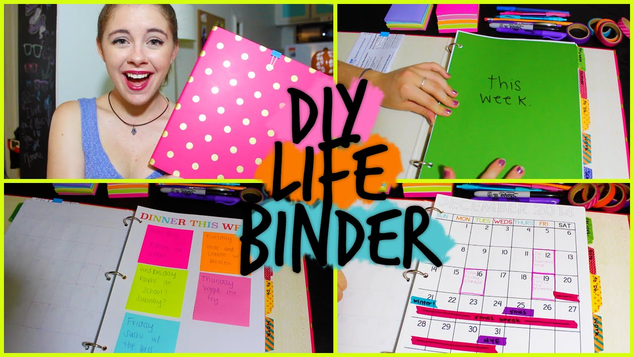 Diy life binder organize your calendar work school more youtube solutioingenieria Choice Image