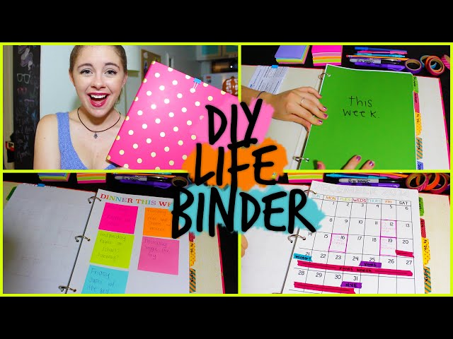 Diy Calendar Binding : Diy life binder organize your calendar work school