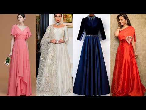 all-new-plain-gown-designs-2020-||-simple-gown-ideas-from-plain-fabric-||-long-dress-designs