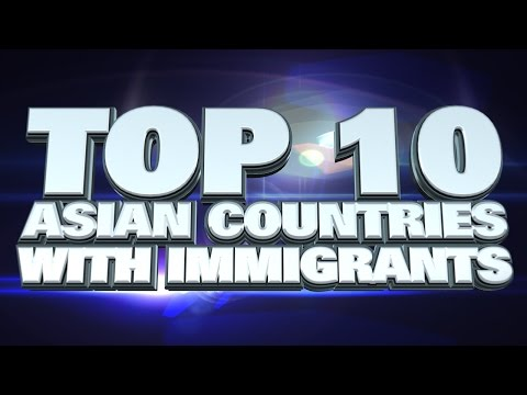 10 countries with the most immigrants in Asia 2014