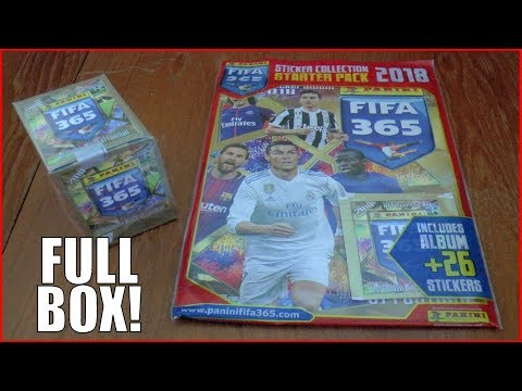 FULL BOOSTER BOX & STARTER PACK ! | Panini FIFA 365 2018 Sticker Collection