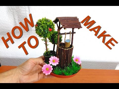 How to make mini wood Well for fairy gardens