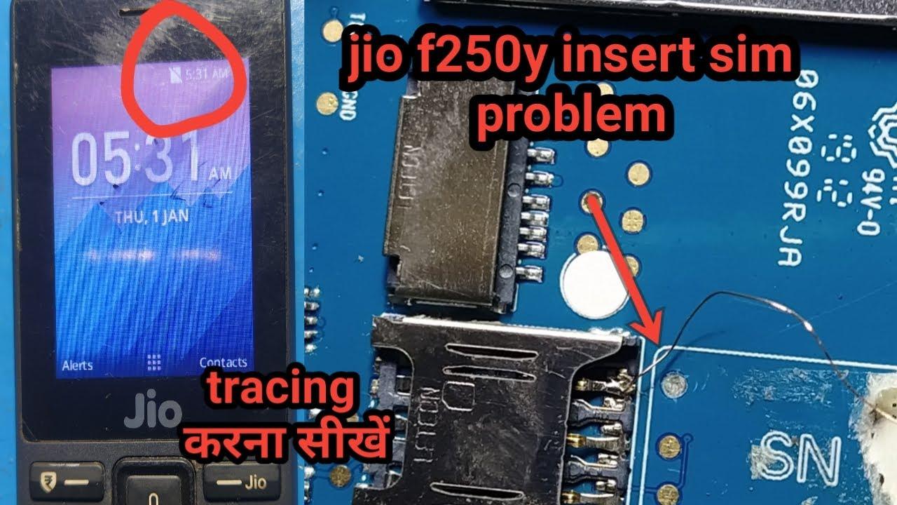 jio phone f250y insert sim solution||jio phone f250y sim jumper