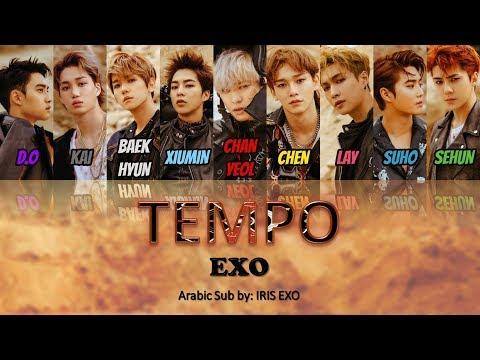 EXO - TEMPO    [Arabic Sub] (Color Coded)