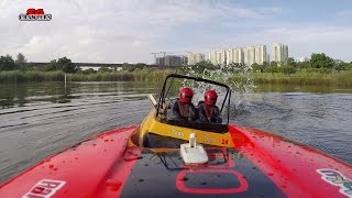 Proboat Black Jack 29 on board cam boating at Sengkang Riverside Park Pond