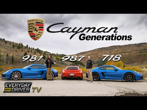 Porsche Cayman Generations (987,981,718) compared - Which is best? | Everyday Driver TV S4