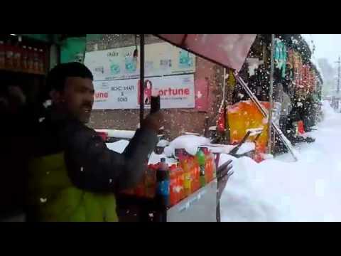 Heavy snowfall at Gulmarg Kashmir