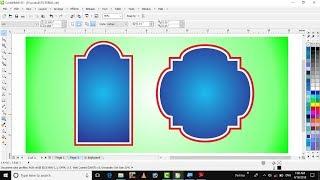 Learn CorelDraw in hindi tutorial 19 contour tool in corel draw