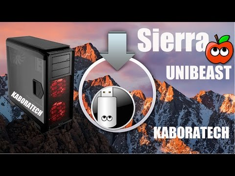 UniBeast Install macOS Sierra on Any Supported Intel based PC