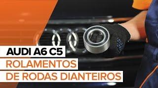 Mudar Jogo de maxilas de travão traseiro e dianteiro AUDI A6 Avant (4B5, C5) - vídeos tutoriais