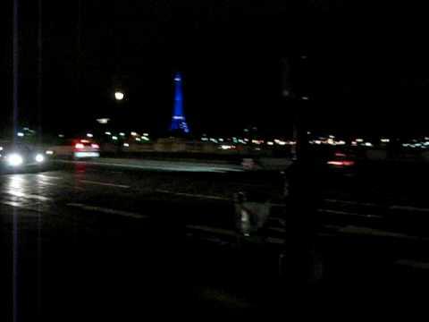 Pont de la Concorde bridge view at night