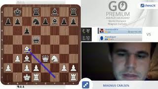 Monster with 1000 eyes: Magnus Carlsen vs. chess24 user zaratustra2014