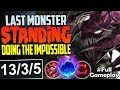 LAST MONSTER STANDING | DOING THE IMPOSSIBLE | Cho'Gath vs Jax TOP | NA Unranked to Diamond #68
