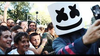 Marshmello Celebrates National Marshmallow Day in NYC w Z100 and Good Morning America