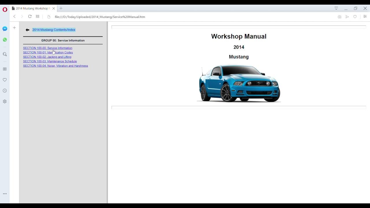 2014 Ford Mustang Workshop Manual Wiring Diagrams Get Free