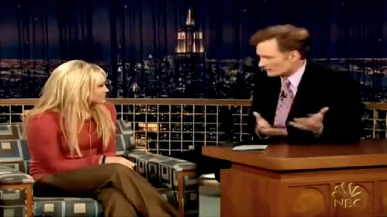 hilary duff interview on late night with conan o 39 brien. Black Bedroom Furniture Sets. Home Design Ideas