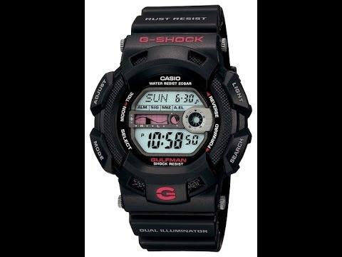 Обзор и настройка часов Casio G - Shock G-9100-1E [3088]