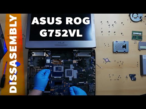 Asus ROG G752VL Disassemble, Clean Dust And Replace Thermal Paste 😊 (with Subtitles)
