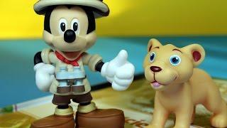 Przyjaciele na safari - Disney - Myszka Miki & lwiątko Milo - Encyklopedia Zwierząt z zabawkami - #1