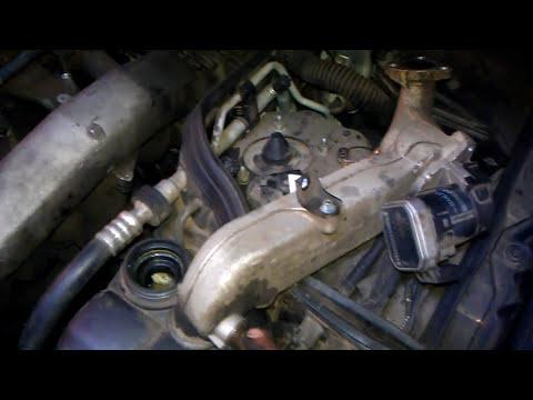 замена прокладки масляного теплообменника на om648 Mercedes w211 320cdi