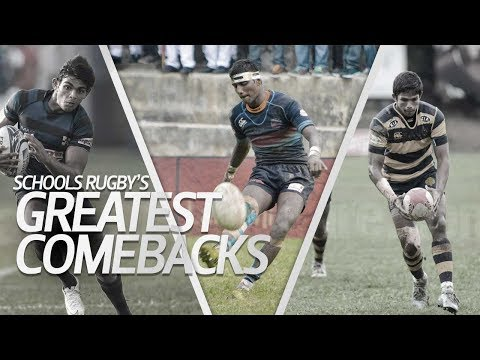 6 of the Greatest comebacks in Schools Rugby - YouTube