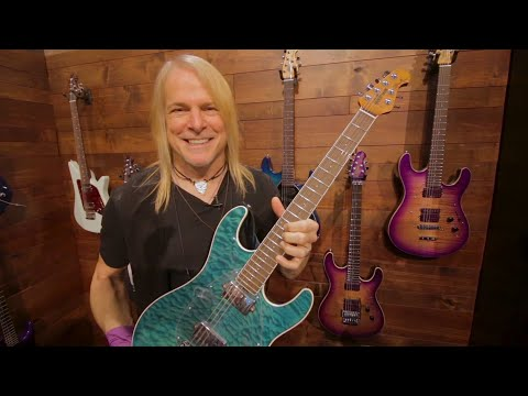 STEVE MORSE Talks Signature Ernie Ball Music Man Guitar Lineup at NAMM 2018 | GEAR GODS