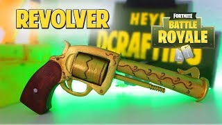 FORTNITE: BATTLE ROYALE REVOLVER EN LA VIDA REAL! DIY Dcrafting