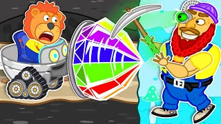 Lion Family 🚇 Journey to the Center of the Earth #56. Rainbow Tunnel   Cartoon for Kids
