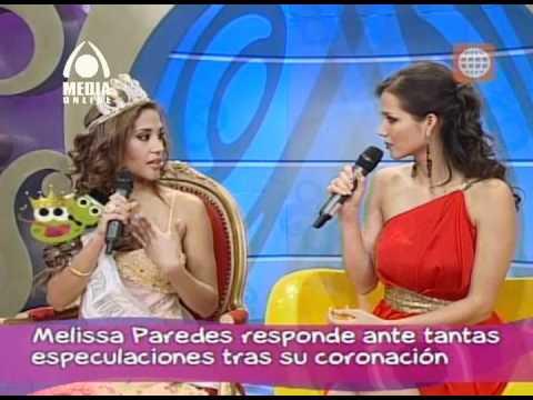 La Miss Peru mundo renuncia en vivo