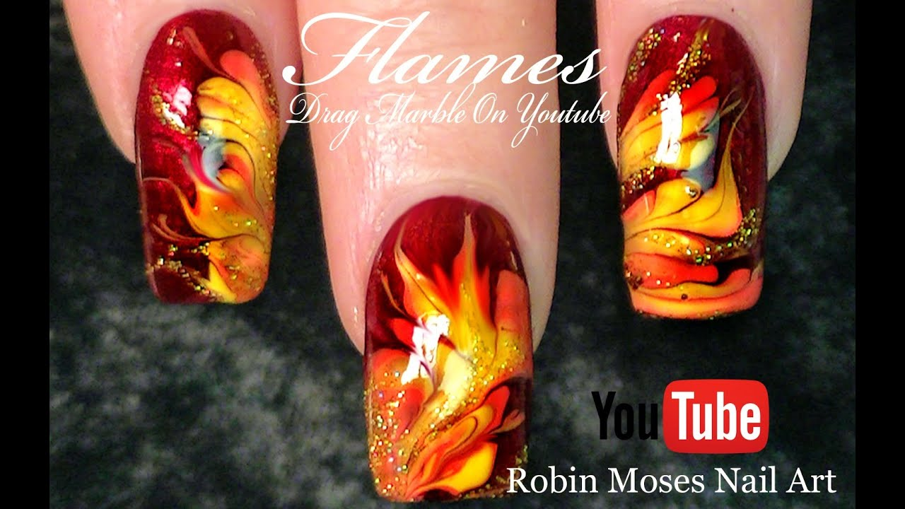 No water needed fall flames diy drag marble nail art tutorial no water needed fall flames diy drag marble nail art tutorial youtube prinsesfo Gallery