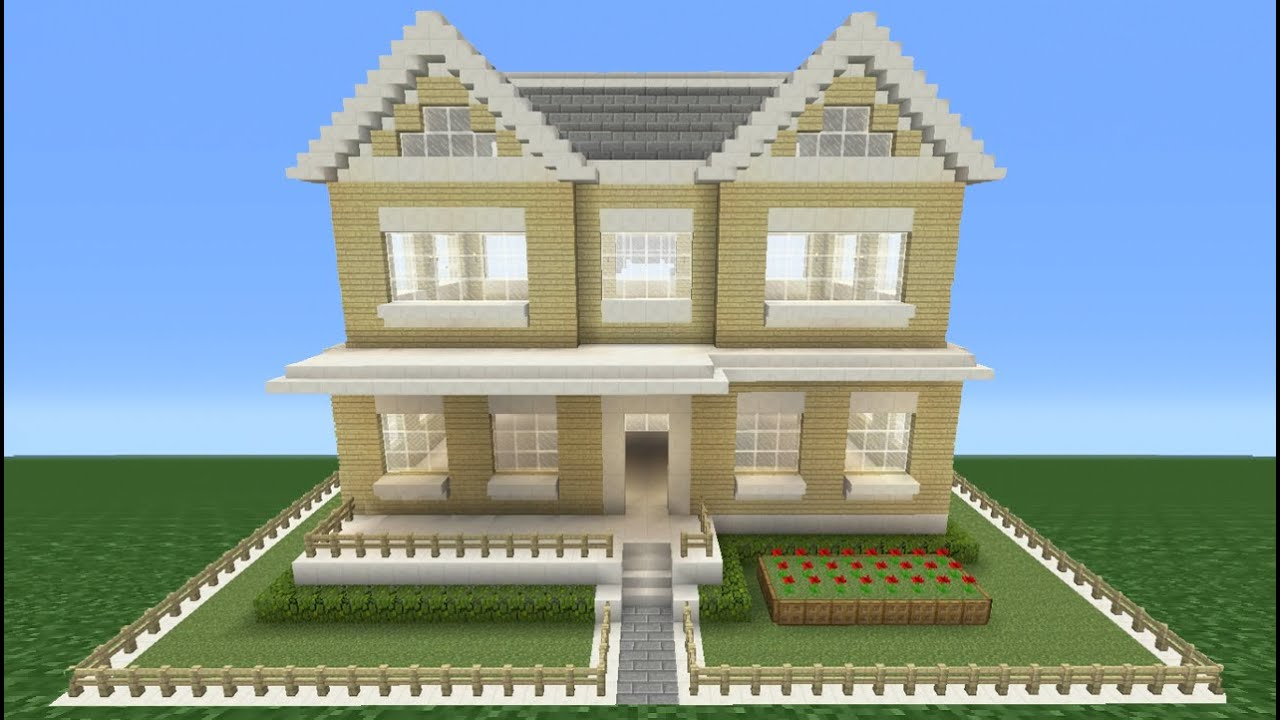 Minecraft tutorial how to make a suburban house 5 youtube for Homes to build