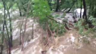 Huge Boulder Flash Flood in Boulder Creek Arapahoe and 30th Boulder Colorado