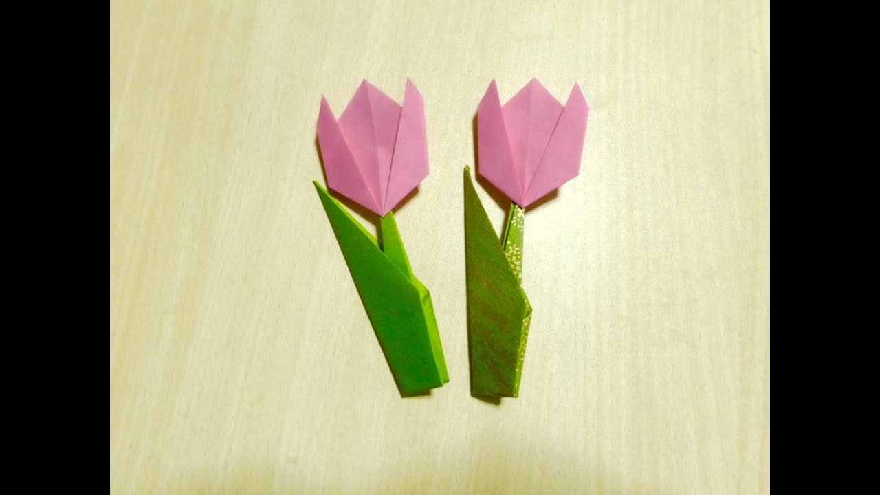 tulpen falten aus papier