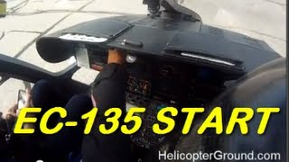Eurocopter EC 135 Cockpit Start Up Real Time