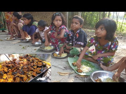 50 KG Fish Cooking / Prepared By Villagers | Charity Foods Serve To 150+ Children & Village Peoples