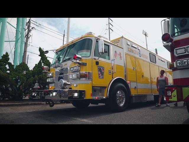 New Pierce Rescue with FireTech Scene Lighting - Huntingtown VFD