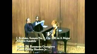 Dr. Georgieva plays J.S. Brahms Violin Sonata No. 2