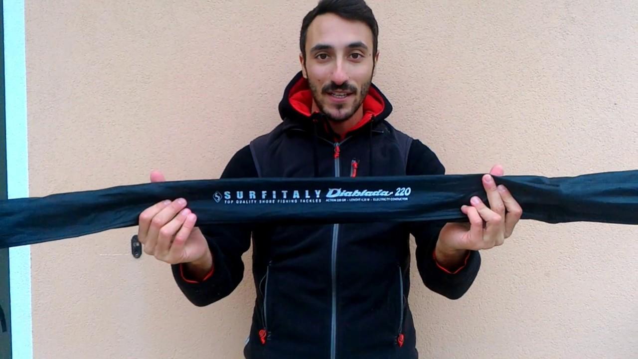 La Canna da Surfcasting in 3 pezzi Diablada 220 presentata da Alessandro  Silvestri d11b12d23ed1
