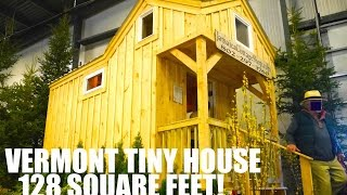 128 Square Foot Tiny House on Wheels Tour at Vermont Home Show