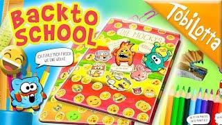 Emoji Buch DIY BackToSchool Basteln  Schule  Kinderkanal Kindervideos Lustige Videos Bastelvideos