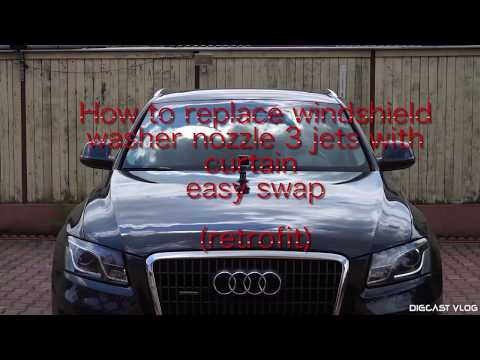How to replace windshield washer nozzle Audi