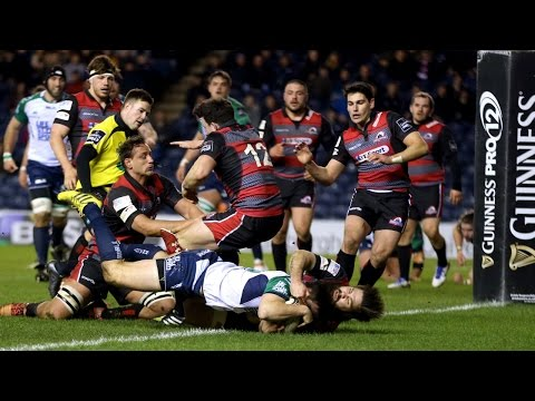 Cornell Du Preez wrestles it over for Edinburgh