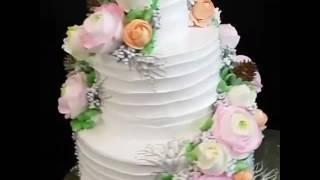 Оформление свадебного торта кремом. РАБОТА БОЛТАБЕКОВОЙ ЖАЗИРЫ