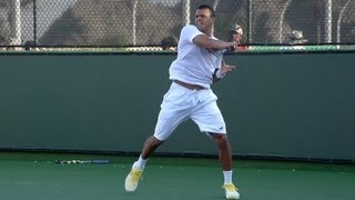 Jo Wilfried Tsonga Forehand in Super Slow Motion - Indian Wells 2013 - BNP Paribas Open