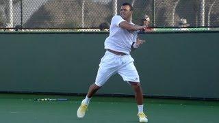 Jo Wilfried Tsonga Forehand in Super Slow Motion - Indian Wells 2013 - BNP Paribas Open