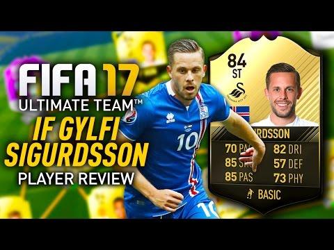 FIFA 17 IF GYLFI SIGURDSSON (84) *STRIKER* PLAYER REVIEW! FIFA 17 ULTIMATE TEAM!