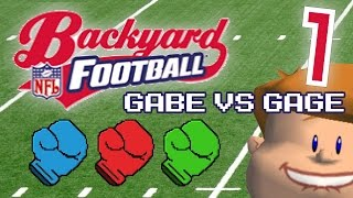Gabe vs Gage | Backyard Football #1 | Kinda Okay