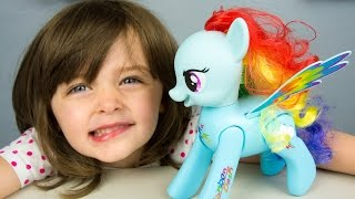 My Little Pony Flip & Whirl Rainbow Dash Pony Fashion Doll Pet MLP